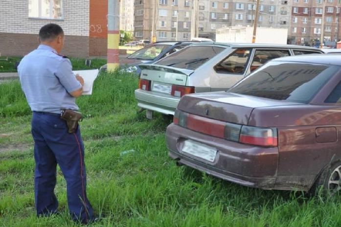 штраф за парковку на газоне